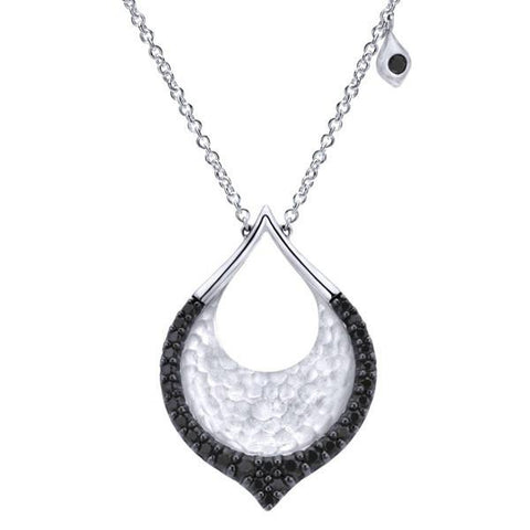 "Gabriel Sterling Silver and Black Spinel ""Byblos"" Pendant $175"