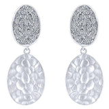 "Gabriel Sterling Silver ""Souviens"" Collection White Sapphire Pave Earrings $300"