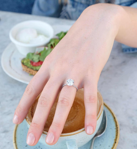 moissanite rings for millennials