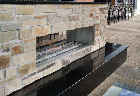 Neat Restaurant Outdoor Patio Fireplace
