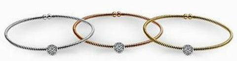 Simon G. Flexible Pave Diamond Circle Bangle Bracelet