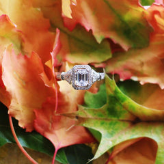 Fall is the best time to propose with a diamond engagement ring!