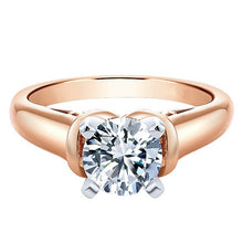 "Load image into Gallery viewer, Ben Garelick Royal Celebrations ""Quinn"" 14K Rose Gold High Polish Solitaire Diamond Engagement Ring"