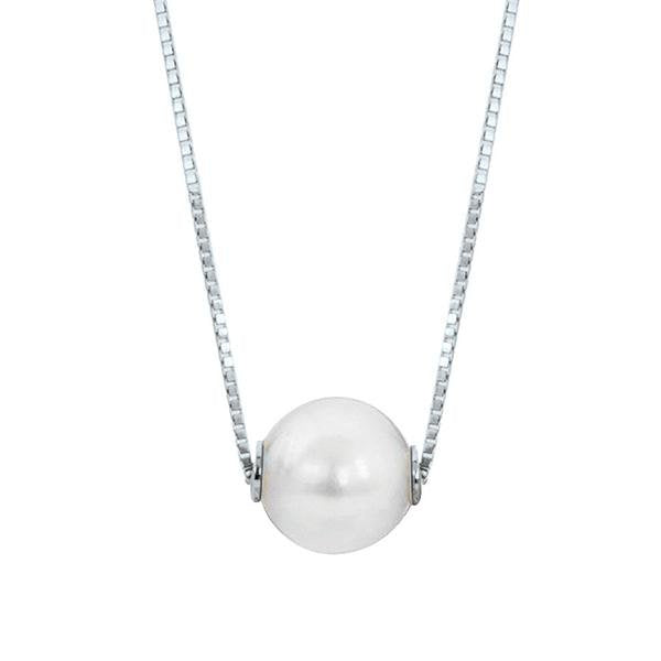 7mm Akoya Pearl Slide Necklace