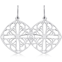 Load image into Gallery viewer, Ben Garelick Sterling Silver Lace Drop Earrings