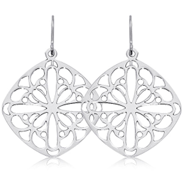 Ben Garelick Sterling Silver Lace Drop Earrings