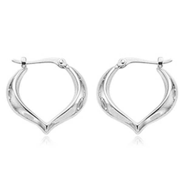 Ben Garelick Sterling Silver Heart Shaped Hoop Earrings