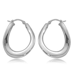 Ben Garelick Sterling Silver Small Wavy High Polish Hoop Earrings