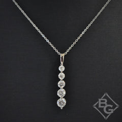 "Ben Garelick Graduating Diamond ""Journey"" Pendant"