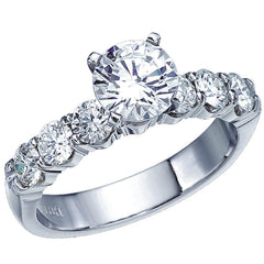 Ben Garelick Royal Celebration Shared Prong Six Diamond Engagement Ring