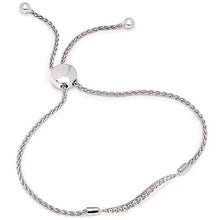 Load image into Gallery viewer, Ben Garelick Sterling Silver Swirl Diamond Bolo Bracelet