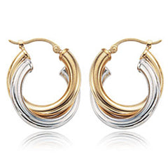 Ben Garelick Two-Tone Gold Double Hoop Earrings
