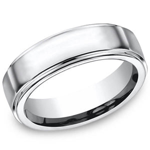 Benchmark Forge Cobalt Chrome 7mm High Polished Wedding Ring