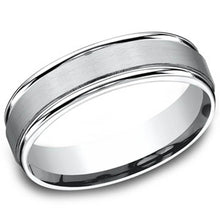 Load image into Gallery viewer, Benchmark 6MM Satin Finish Center Wedding Band