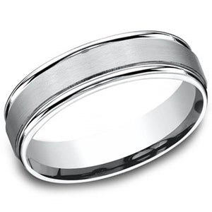 Benchmark 6MM Satin Finish Center Wedding Band
