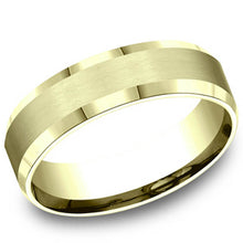 Load image into Gallery viewer, Benchmark 6 MM 10K Yellow Gold Satin Finish Center Wedding Band