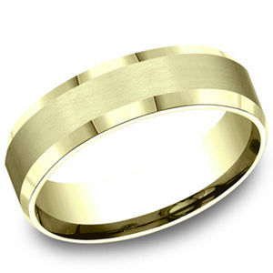 Benchmark 6 MM 10K Yellow Gold Satin Finish Center Wedding Band