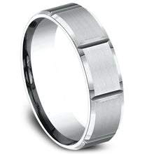 Load image into Gallery viewer, Benchmark 6 MM Comfort Fit Carved Satin Finish Wedding Band