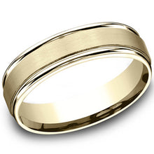 Load image into Gallery viewer, Benchmark 6mm Comfort-Fit 10kt Yellow Gold Carved Wedding Ring