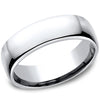 Benchmark High Polish Classic Men's Cobalt Wedding Band
