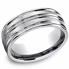 Benchmark 8MM Satin Finish Wedding Band