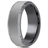 Benchmark Tantalum Powder Coated Satin Finish Men's Wedding Band