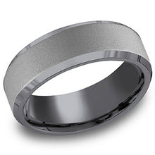 Load image into Gallery viewer, Benchmark Tantalum Powder Coated Satin Finish Men's Wedding Band