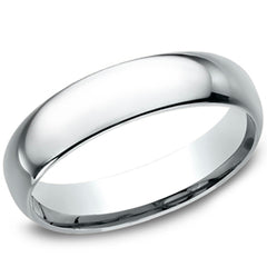 Benchmark White Classic High Polished 5MM Comfort Fit Wedding Band
