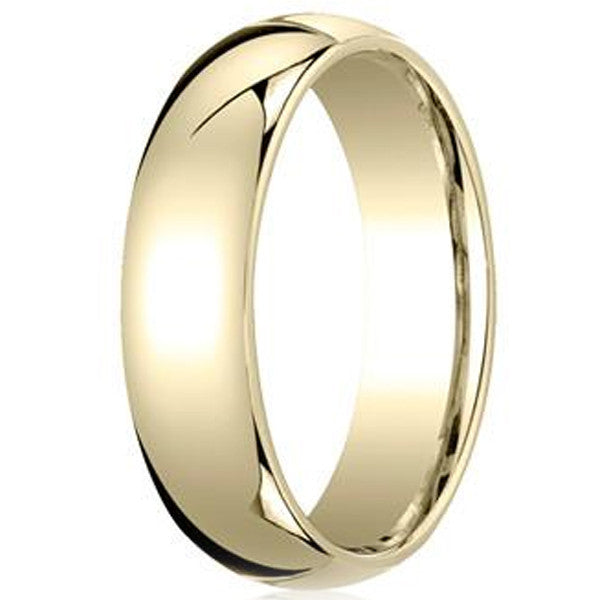 14k Yellow Gold High Polished 2mm Traditional Milgrain: Benchmark 10K Yellow Gold 6MM Comfort Fit Plain Mens