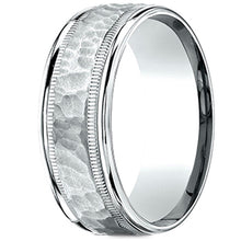 Load image into Gallery viewer, Benchmark 14kt White Gold 6.5mm Hammered Mens Wedding Ring