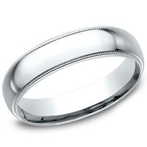 Benchmark Classic 5mm Comfort-Fit Milgrain Wedding Band