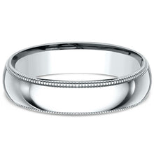 Load image into Gallery viewer, Benchmark Classic 5mm Comfort-Fit Milgrain Wedding Band