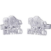 "Load image into Gallery viewer, Ben Garelick Sterling Silver ""Buffalo, NY"" Cufflinks"