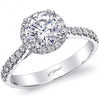 Coast Thin Round Cut Halo Diamond Engagement Ring