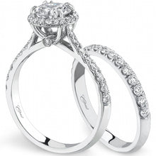 Load image into Gallery viewer, Coast Thin Round Cut Halo Diamond Wedding Ring Set