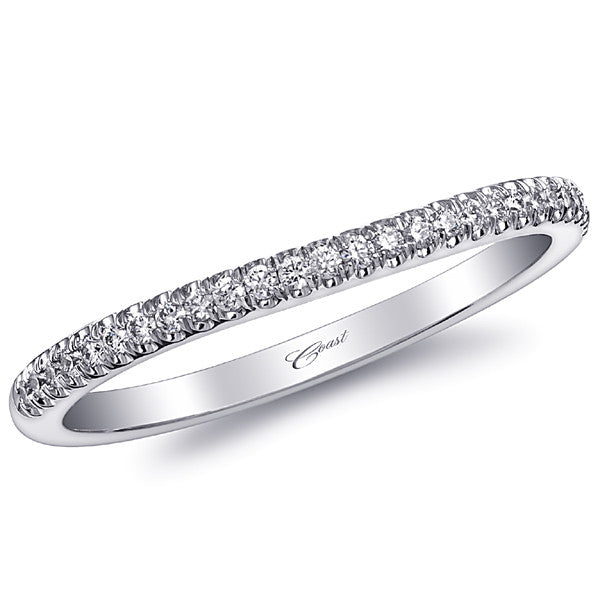Coast Curved Shared Prong Diamond Wedding Band
