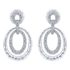 "Gabriel Sterling Silver ""Souviens"" Collection White Sapphire Fashion Earrings"