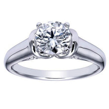 "Load image into Gallery viewer, Ben Garelick Royal Celebrations ""Quinn"" 14K White Gold High Polish Solitaire Diamond Engagement Ring"