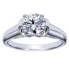"Ben Garelick Royal Celebrations ""Quinn"" 14K White Gold High Polish Solitaire Diamond Engagement Ring"