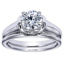 "Load image into Gallery viewer, Ben Garelick Royal Celebrations ""Quinn"" High Polish Solitaire Diamond Wedding Set"