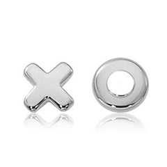 Ben Garelick Sterling Silver Hugs and Kisses Studs