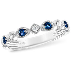 Vintage Style Stackable Blue Sapphire Diamond Band_Style_W1856