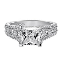 "Load image into Gallery viewer, Artcarved ""Harper"" Princess Cut Diamond Engagement Ring"