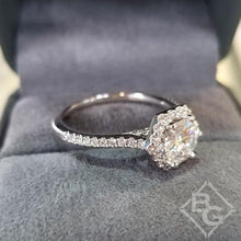 "Load image into Gallery viewer, Artcarved ""Lorelei"" Hexagon Halo Diamond Engagement Ring"