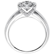 "Load image into Gallery viewer, Artcarved ""Rachel"" Half Bezel Diamond Engagement Ring"