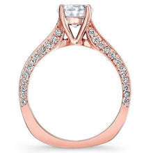 Load image into Gallery viewer, Barkev's Channel Set Princess Cut Diamond Engagement Ring