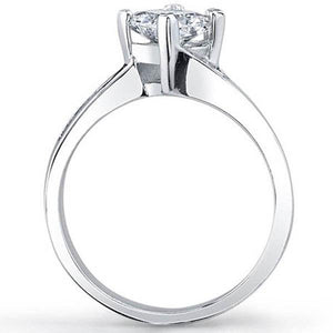 Barkev's Compass Set Princess Cut Diamond Engagement Ring