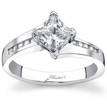 Load image into Gallery viewer, Barkev's Compass Set Princess Cut Diamond Engagement Ring