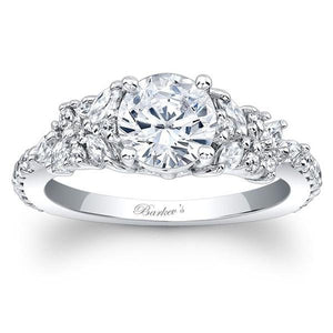 Barkev's Diamond Encrusted Petal Engagement Ring