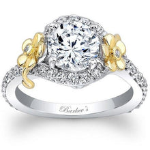 Load image into Gallery viewer, Barkev's Floral Detailed Halo Diamond Engagement Ring